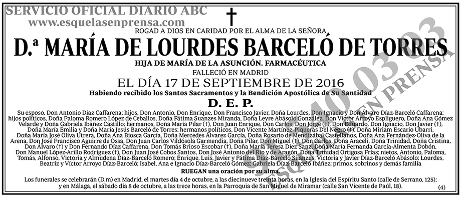 María de Lourdes Barceló de Torres